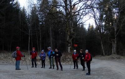 Pri gozdarski hiši Netopir na Bohorju.